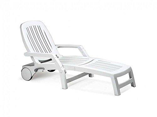 Nardi Vulcano Lounger - White