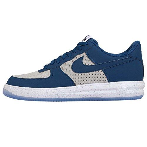 Forza Lunar 1 14 Mens degli addestratori delle scarpe da tennis 654256 (uk 6 US 7 Eu 40, Blue Force