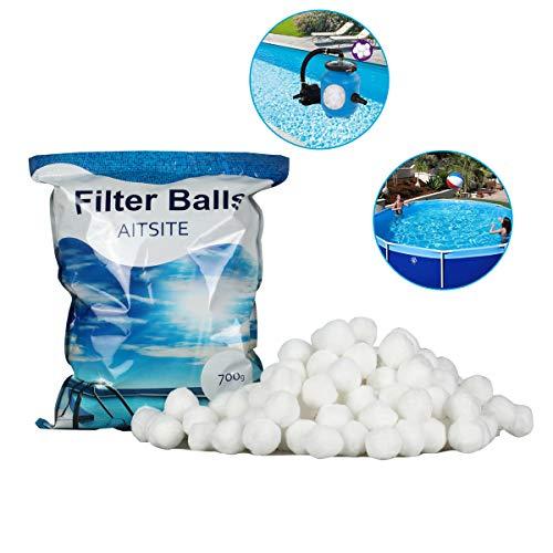 Aitsite 700g 8 Liter Filter Balls Pool Filterkessel Sandfilter 25 kg Filtersand Quarzsand Ersatzprodukte