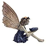 Garten Ornament Sitzen Magische Fee, Sitzende Elfen Gartenfiguren, Tudor und Turek Sitzen Fee Statue, Harz Handwerk Landschaftsbau Hof Dekoration Garten Statue Elf Statue Figur Fee Fairy Gartendeko