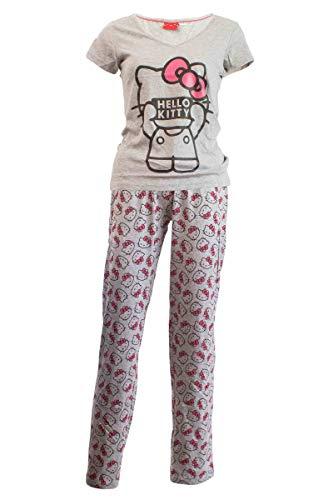 Damen Pyjama Schlafanzug Nachtwäsche 271249 Hello Kitty M 40-42