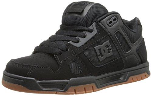 DC Herren Stag Sneaker, Schwarz/Gum, 42 EU
