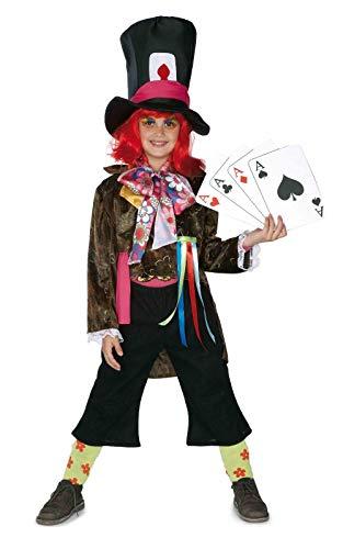 El Rey del Carnaval - Disfraz infantil sombrerero talla 9-11 aos
