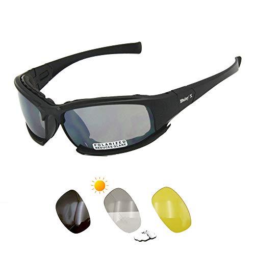 Daisy X7 gafas de sol polarizadas gafas tácticas 4LS para hombre militares a prueba de balas airsoft tiro gafas UV400 lente fotocromática motocicleta bicicleta ciclismo gafas (lente fotocromática)