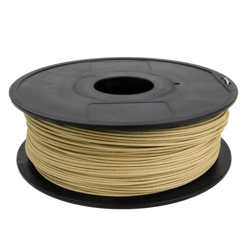Gizmo Dorks 3mm (2.85mm) Wood Filament 1kg for 3D Printers, Natural