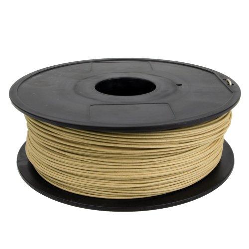 Gizmo Dorks 1.75mm Wood Filament 1kg for 3D Printers, Natural