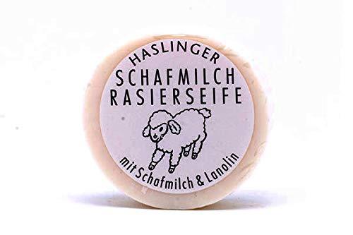 Haslinger Vorteilset Schafmilch Rasierseife, 60 g Art.Nr. 6065 + Trinitae Handcreme - Salz aus dem Toten Meer/Shea Butter/Zitrus Kräuter Mischung Original-Linie 50ml erfrischender Verbena