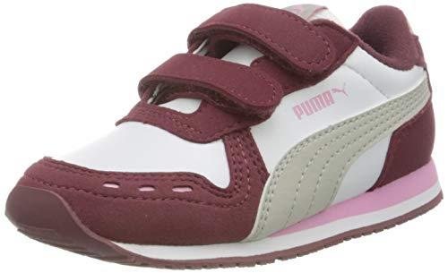 PUMA Unisex Baby Cabana Racer Sl V Inf Sneaker, White-Gray Violet-Pale Pink, 25.5 EU