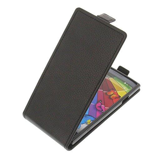 Tasche für Mobistel Cynus T8 Flipstyle Silikon Inlay Schutz Hülle schwarz