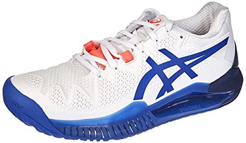 ASICS Gel-Resolution 8, Scarpe da Tennis Donna, White/Lapis Lazuli Blue, 40 EU