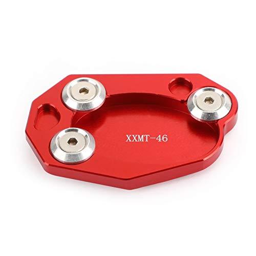 Placa De Pie De Extensión De Soporte Lateral De Aluminio CNC para Kawasaki ER6N ZX6R Z1000 ZX10R Piezas De Motor De Motocicleta Soporte de pie Lateral (Color : Red)