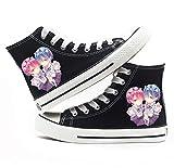 GO2COSY Anime Re:Zero Kara Hajimeru Isekai Seikatsu Cosplay Rem Ram Sneakers Canvas Shoes Womens' Size