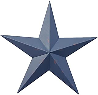 32 Inch Rustic Whale Blue Barn Star Made with Galvanized Metal to Prevent Rusting. Amish Hand Made Your Source for Heavy Duty Metal Tin Barn Stars and Primitive Style Stars for Your Country Crafts and Home and Garden Decor. American Handcrafted - Made in the Usa!