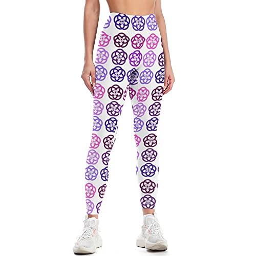 QTJY Pantalones de Yoga Delgados de Color para Mujer Pantalones de Yoga de Cintura Alta Suaves y de Moda Pantalones de Entrenamiento de Gimnasio Celulitis Pantalones para Correr B XL