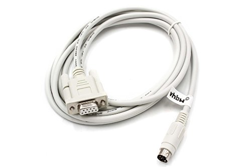 vhbw Cable Adaptador Serial RS-232 Compatible con Panasonic FP-G, FP-X, FP0, FP2...