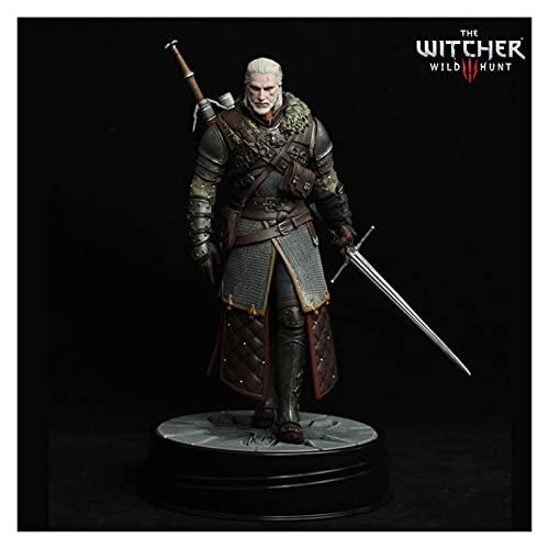 VBCGGGG The Witcher 3: Figura de acción de Caza Salvaje Geralt de Rivia Figma Figura de acción del Juego Witcher Coleccionables 24 cm Action Figures