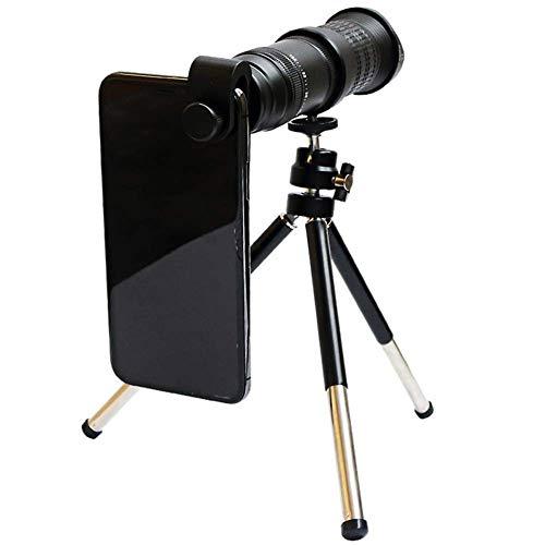 ZHANGYH Telescopio Digital Telescopio de teléfono móvil 18-30X, teleobjetivo de teléfono con Zoom Compatible con trípode XS MAX XR X 8 7 Plus, teléfono Inteligente Android