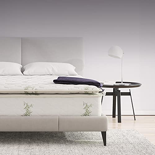 Signature Sleep 13-Inch Hybrid Coil Mattress, Bamboo Fabric, Independently...