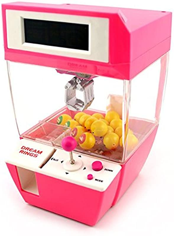 Coin Operated Candy Grabber Balls Catcher Board Game Fun Toys Mini Crane Claw Machine With Alarm Clock Function For Children