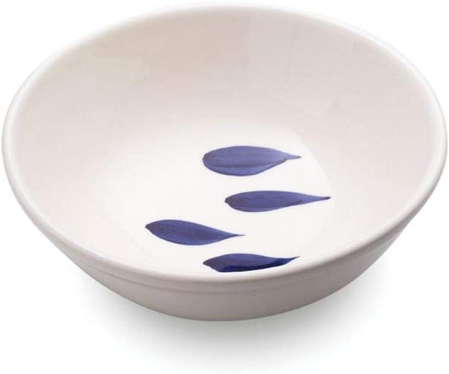 Diametro 210 mm Zafferano Serie Mannaggia Li Pescetti Insalatiera in Porcellana Decoro Pesci Blu