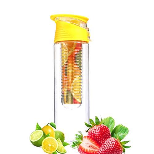 ASDFF Botella de Agua infusor de 800 ml, infusión de Frutas de plástico, Bebida para niños, Botella Deportiva al Aire Libre, Jugo de limón, Accesorios portátiles de Cocina