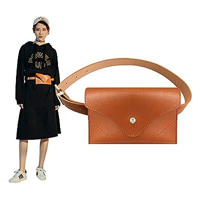 Famhome sac banane de cuir, pochette de ceinture amovible taille voyage sac de téléphone cellulaire