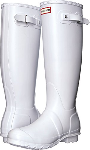 Hunter Women's Original Tall White Rain Boots - 9 B(M) US