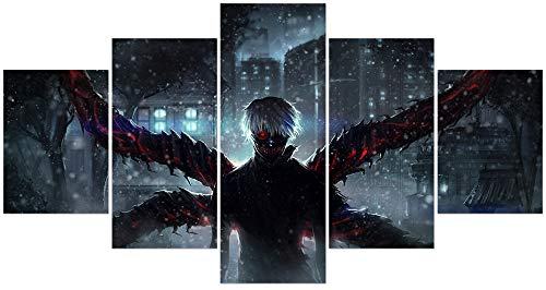 Jackethings Japanese Tokyo Ghoul Anime Poster Kaneki Ken Prints on Canvas Unframed Wall Art Decoration Cool for Home Club Decor