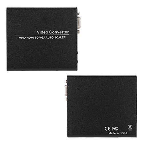 Shanbor Caja convertidora HDMI HDMI1.3 Caja convertidora DVI1.0 Plug and Play Escala de resolución de Entrada para música Películas caseras(European regulations)