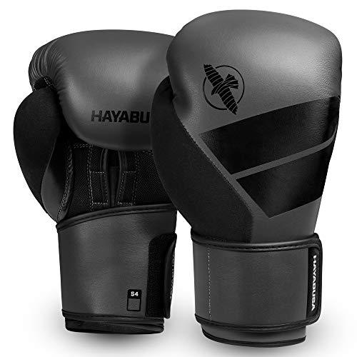 Hayabusa S4 10oz, 12oz, 14oz, 16oz Boxhandschuhe. Für Männer, Frauen und Kinder (Grau, 16oz)