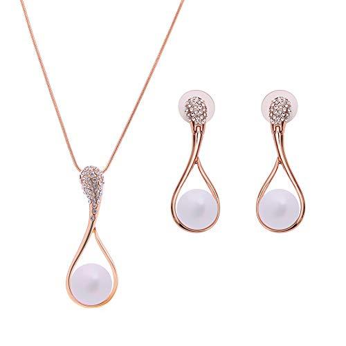 Yinew Luxus-Halskette mit Kristallperlen-Anhänger/Charm für Damen, lange Kette für Pullover, Legierung, silber, Siehe Produktbeschreibung