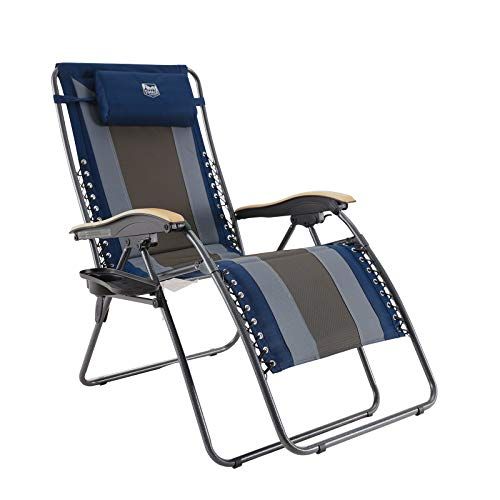 TIMBER RIDGE XL Padded Zero Gravity Lounge Chair with Cup Holder Adjustable Headrest, Support up to...
