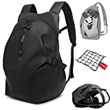 Motorcycle Backpack,Motorcycle Backpacks for Men,Motorcycle Backpack Waterproof,Helmet Backpack - with One Extra Motorcycle Cargo Net
