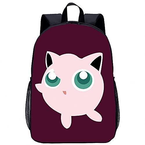 Pokemon Mochila Escolar Mochila para Portátil Impermeable Bolso De Hombro De Moda Casual para Mujer