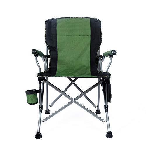 Ihoming Silla plegable de camping resistente de 350 libras de malla al aire libre con soporte de taza y bolsa de transporte portátil