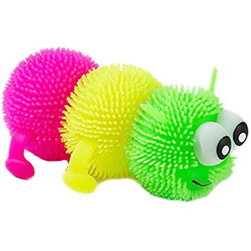 Hinder Caterpillar Puffer Juguetes Iluminados Bola de Globo Sensorial Bola Novedad Squeezey Juguetes para niños pequeños