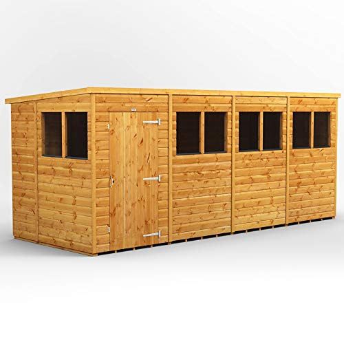 POWER | 16x6 Pent Wooden Garden Shed | Size 16 x 6 | Super Fast 2-3 Day Delivery or Pick your own day