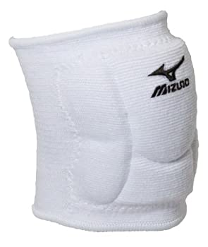 Mizuno White Youth Small Volleyball Knee Pads Low Rise 6  Top of The Line  Youth Club/Rec Volleyball Players
