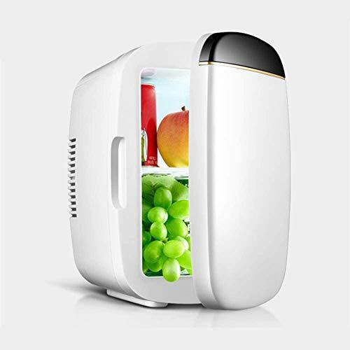 ewrwrwr Mini refrigerador Sobremesa Mini refrigerador Tablero de partición extraíble Puerta Simple Refrigeración y calefacción 2 en 1 Bajo Consumo Bajo Consumo 10L