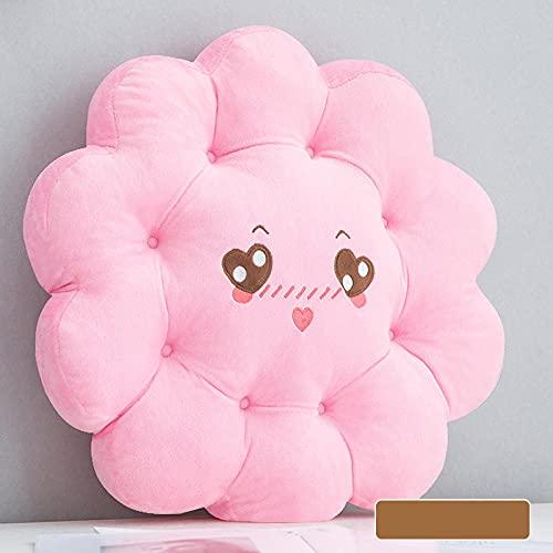 ANGANGAN Cojín de meditación forma redonda 45X45cm rosa linda meditación Mat algodón lino cómodo salón jardín terraza estera
