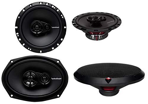 Rockford Fosgate R169X3 6x9 260W 3 Way + R165X3 6.5' 3 Way Car Speakers Coaxial