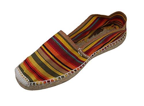 Alpargatus - Alpargata Plana Rayas Multicolores - Talla - 32, Unisex-niños