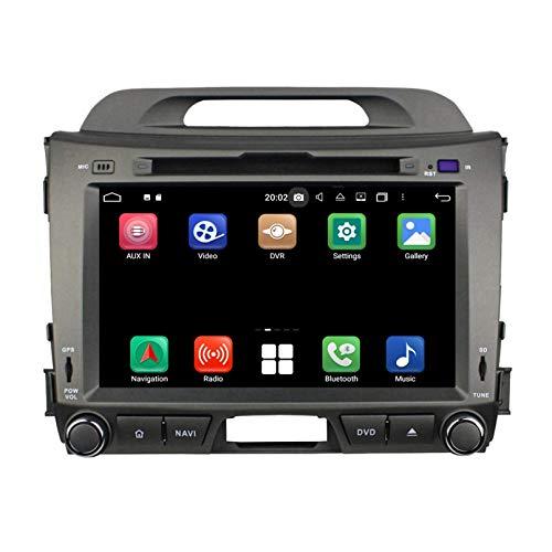 8 Pollici Touchscreen Lettore DVD Android 10.0 Autoradio per Kia Sportage(2010-2015), Navigazione GPS DAB+ Radio Bluetooth