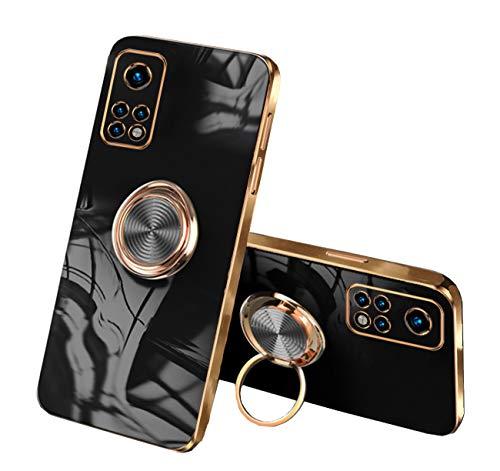 Compatible con Xiaomi Mi 10T Case Xiaomi Mi 10T Pro Silicona China Antigolpes, Funda Antideslizante, Cover Coche Magnética Funda Protección Cover (Xiaomi Mi 10T Pro, Negro)