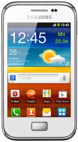 Samsung Galaxy Ace Plus S7500 Smartphone (9,3 cm (3,7 Zoll) Touchscreen, 5 Megapixel Kamera, Android 2.3) chic-white