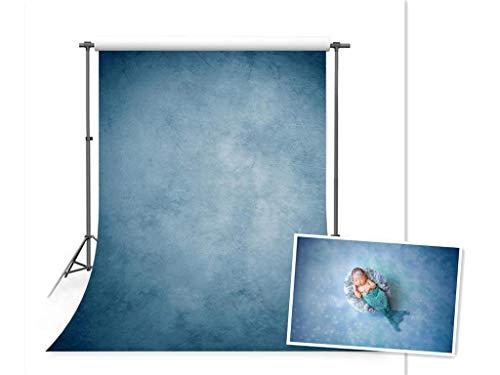 WaW Waschbar Stoff Fotografie Studio Hintergrund, Klassische Fotohintergrund for Baby, Kinder, Porträt, Haustier, Werbung Photoshooting Video (1.5x2.2m, Blau)