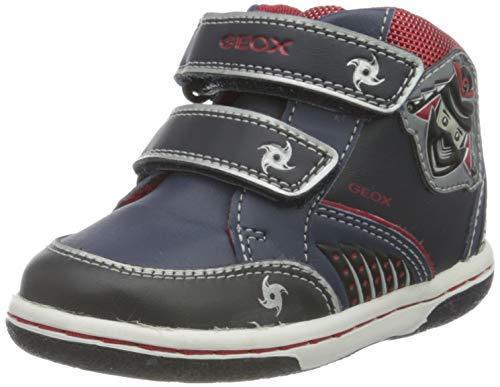 Geox Jungen B Flick Boy D Sneaker, Blau (NAVY/REDC0735), 23 EU