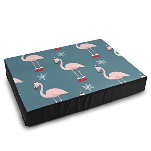 YAGEAD Ropa de Cama para Mascotas Patrón navideño con Camas para Perros Flamingo para Perros pequeños medianos Cama Acolchada Impermeable Lavable y Relajante 🔥