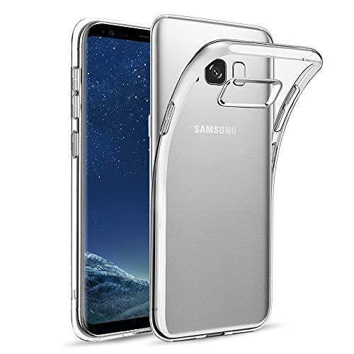Amonke Funda para Samsung Galaxy S8, TPU Silicona Transparente Protectora Carcasa Antigolpes, Anti Caídas Ultrarock Ultrafina Suave Case Cover Compatible con Samsung Galaxy S8