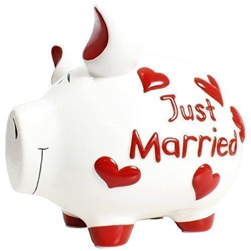 HausderHerzen.de Sparschwein mit Herz Spardose Sparbüchsen Hochzeit Hochzeitskasse